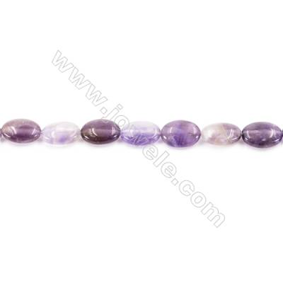 """Natural Amethyst Beads Strand  Oval  Size 10x14mm  hole 1mm  about 29 beads/strand 15~16"""""""