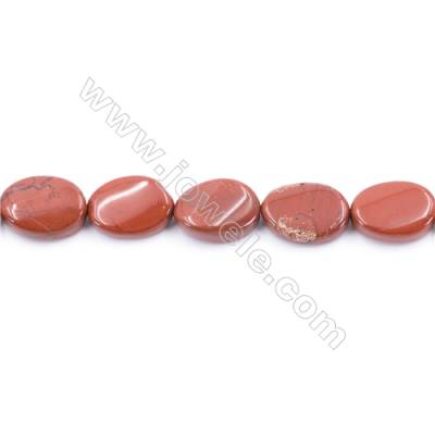 Natural Red Jasper Beads Strand  Twisted Oval  Size 13x18mm  hole 1mm  about 22 beads/strand 15~16''
