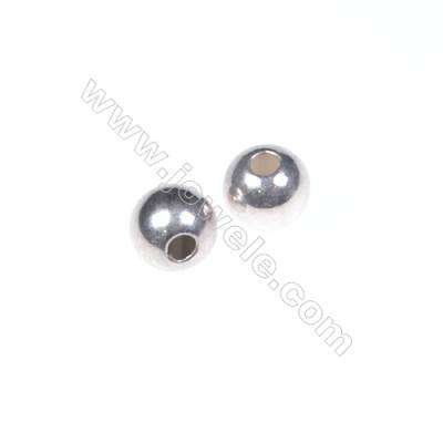 925 Sterling silver beads, 4mm, x 100pcs, hole 1mm