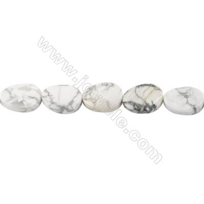 White Howlite Beads Strand  Twisted Oval  Size 13x18mm  hole 1mm  about 22 beads/strand 15~16''