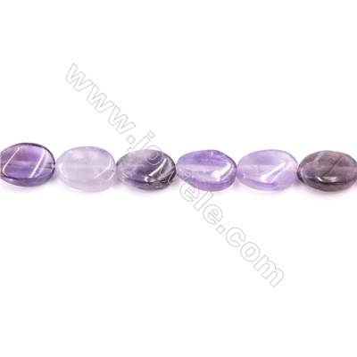 Natural Amethyst Beads Strand  Twisted Oval  Size 13x18mm  hole 1mm  about 23 beads/strand 15~16""