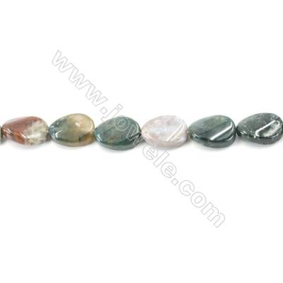 Natural Fancy Indian Agate Beads Strand  Twisted Oval  Size 13x18mm  hole 1mm  about 22 beads/strand 15~16""