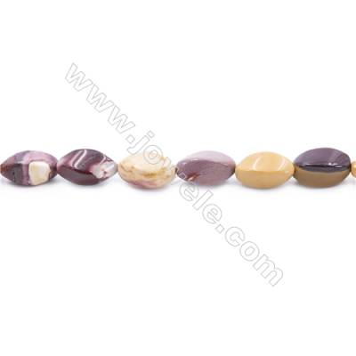 Mookaite Beads Strand  Twisted Oval  Size 8x16mm  hole 1mm  about 25 beads/strand 15~16''
