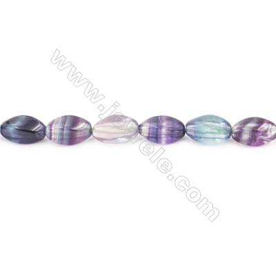 Natural Fluorite Beads Strand  Twisted Oval  Size 8x16mm  hole 1mm  about 26 beads/strand 15~16''