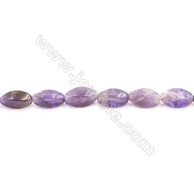 Natural Amethyst Beads Strand  Oval  Size 8x16mm  hole 1mm  about 24 beads/strand 15~16""