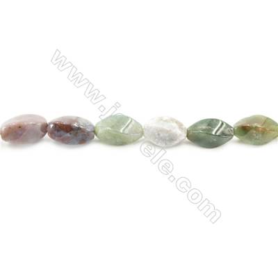 Natural Fancy Indian Agate Beads Strand  Twisted Oval  Size 8x16mm  hole 1mm  about 25 beads/strand 15~16""