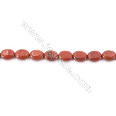 Natural Red Jasper Beads Strand  Oval  Size 8x10mm  hole 1mm  about 40 beads/strand 15~16''