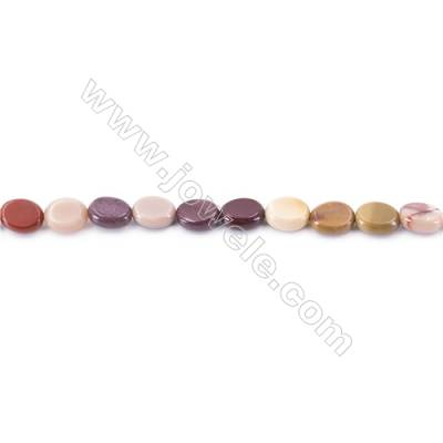 Natural Mookaite Beads Strand  Flat Oval  Size 8x10mm  hole 1mm  about 41beads/strand 15~16''