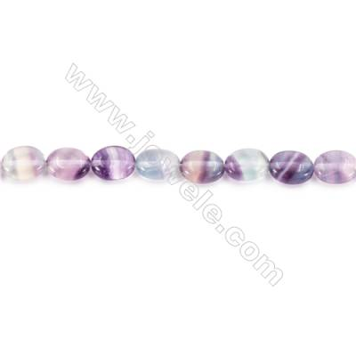 Natural Fluorite Beads Strand  Oval  Size 8x10mm  hole 1mm  about 41 beads/strand 15~16''