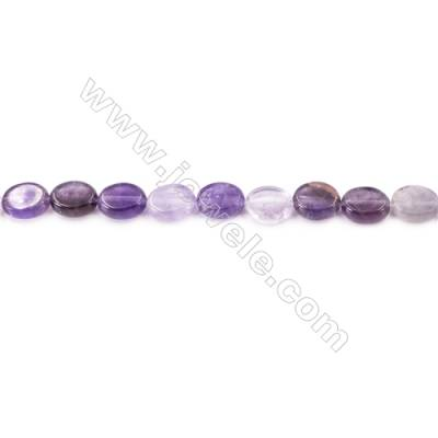 """Natural Amethyst Beads Strand  Oval  Size 8x10mm  hole 1mm  about 41 beads/strand 15~16"""""""