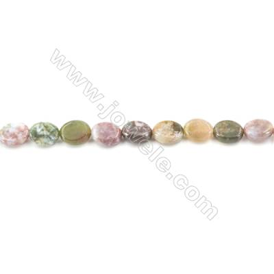 Natural Fancy Indian Agate Beads Strand  Oval  Size 8x10mm  hole 1mm  about 41 beads/strand 15~16""