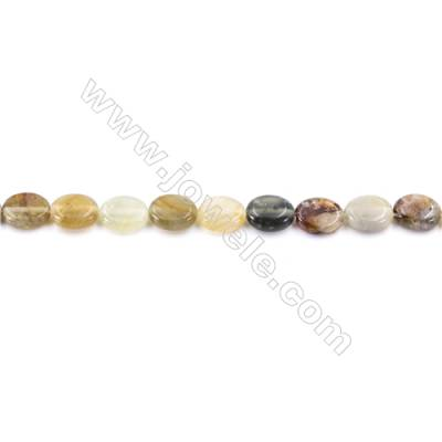 """Natural Flower Jade Beads Strand  Oval  Size 8x10mm  hole 1mm  40 beads/strand 15~16"""""""