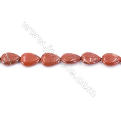 Natural Red Jasper Beads Strand  Teardrop  Size 13x18mm  hole 1mm  about 23 beads/strand 15~16''