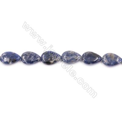 Natural Sodalite Beads Strand  Flat Teardrop  Size 13x18mm  Hole 1mm  about 23 beads/strand  15~16""