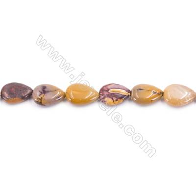 Natural Mookaite Beads Strand  Flat Teardrop  Size 13x18mm  hole 1mm  about 23 beads/strand 15~16''