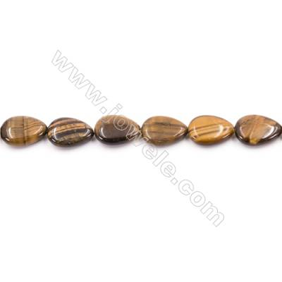 Tiger Eye Beads Strand  Flat Teardrop  Size 13x18mm   hole 1mm   about 23 beads/strand 15~16''
