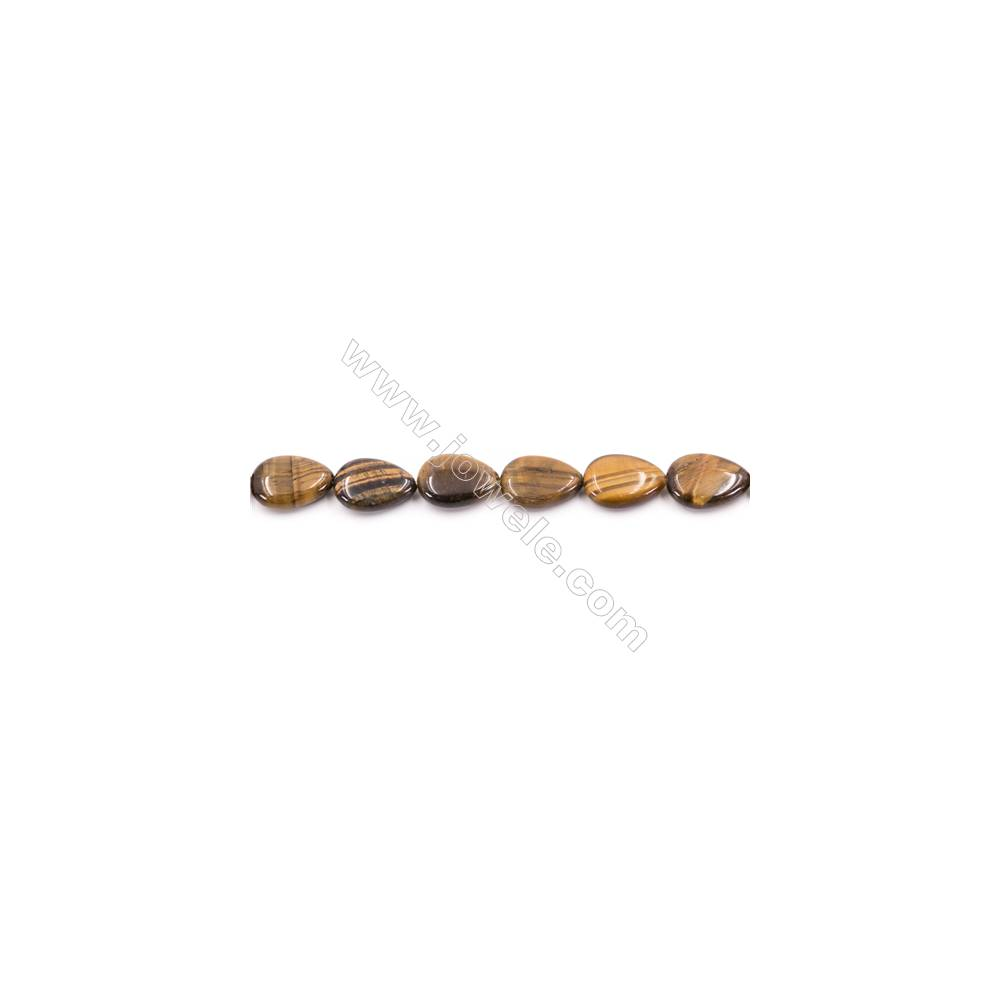 """Wholesale Natural Assorted Stones Teardrop Beads For Jewelry Making 15/"""" 13x18mm"""