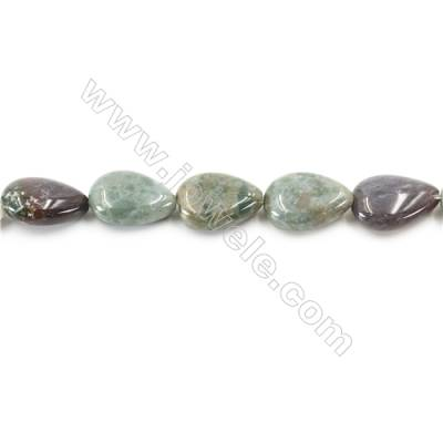 Natural Fancy Indian Agate Beads Strand  Flat Teardrop  Size 13x18mm  hole 1mm  about 23 beads/strand 15~16""