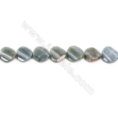 Natural Moss Agate Beads Strand Twisted Round  Diameter 16mm  hole 1mm   about 26 beads/strand 15~16""