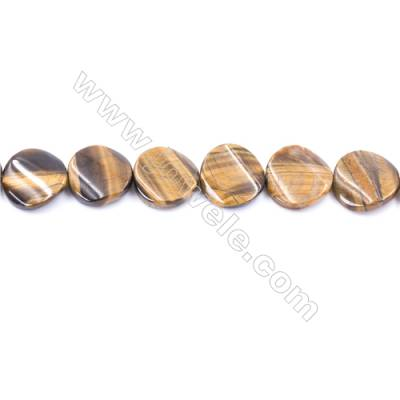 Tiger Eye Beads Strand  Twisted Round  Diameter 16mm   hole 1mm   about 24 beads/strand 15~16''