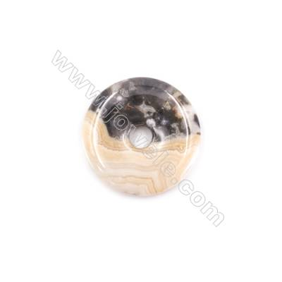 Crazy Lace Agate Pendant Accessory  Donut  Diameter 30mm  hole 6mm  x 1piece