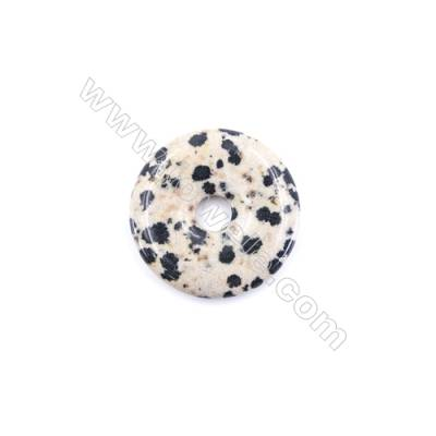 Natural Dalmatian Jasper Pendant Accessory  Donut  diameter 30mm  hole 6mm x 1piece