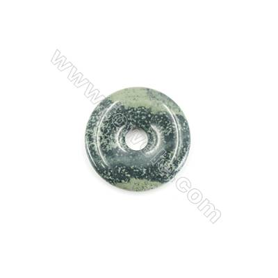 Kambaba Jasper Pendant Accessory  Donut  Diameter 30mm  Hole 6mm x 1piece