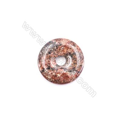 Natural Brecciated Jasper Pendant Accessory  Donut  Diameter 30mm   hole 6mm x 1piece