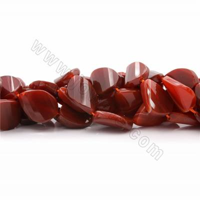 "Natural Red Agate Beads Strands, Teardrop(faceted), Size 31x23mm, Hole 1.5mm, 15~16""/strand"