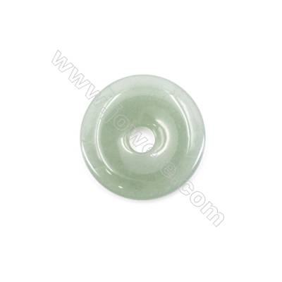 Natural Green Aventurine Pendant Accessory  Donut  Diameter 40mm  hole 8mm x 1piece