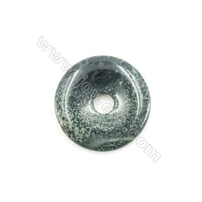Kambaba Jasper Pendant Accessory  Donut  Diameter 40mm  Hole 8mm x 1piece