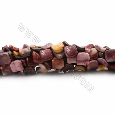 "Natural Mookaite Beads Strands, Twisted Rhombus, Size 18x18mm, Hole 1mm, 15~16""/strand"