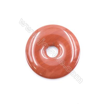 Natural Red Jasper Pendant Accessory  Donut  Diameter 50mm  hole 10mm x 1piece
