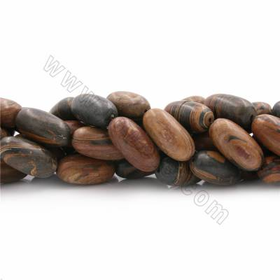 """Natural Brown Opal Beads Strands, Rice, Size 30x15mm, Hole 1mm, 15~16""""/strand"""