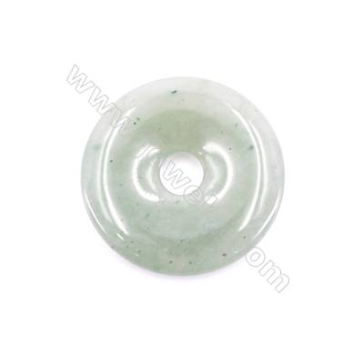 Natural Green Aventurine Pendant Accessory  Donut  Diameter 50mm  hole 10mm x 1piece