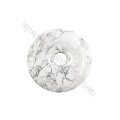 White Howlite Pendant Accessory  Donut Diameter 50mm  hole 10mm x 1piece
