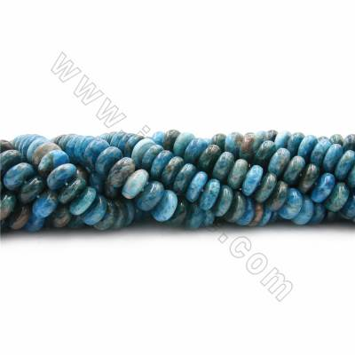 "Natural Apatite Beads Strands, Abacus, Size 5x12mm, Hole 1mm, 15~16""/strand"