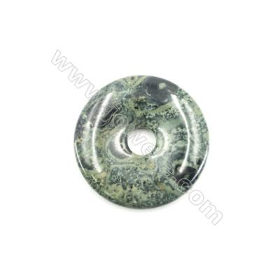 Kambaba Jasper Pendant Accessory  Donut  Diameter 50mm  Hole 10mm x 1piece