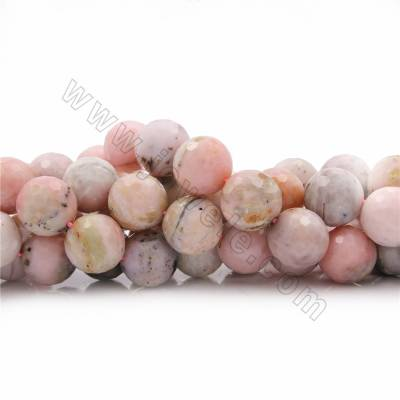 "Natural Pink Opal Beads Strands, Round(faceted), Size 18mm, Hole 1mm, 15~16""/strand"
