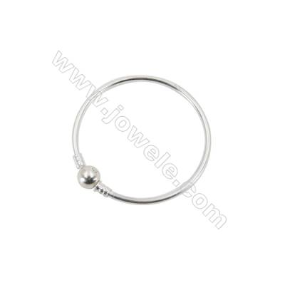 925 Sterling Silver European Bangle x 1piece  170mm  Thickness 3mm