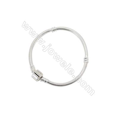 Sterling Silver Flexible Bangle x 1piece  160mm  Thickness 3mm