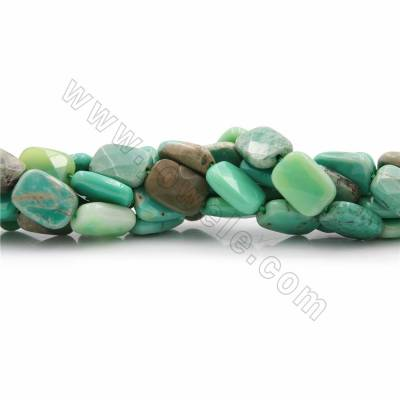 "Natural Green Grass Agate Beads Strands, Rectangle(faceted), Size 14x10~30x22mm, Hole 0.7~1.5mm, 15~16""/strand"