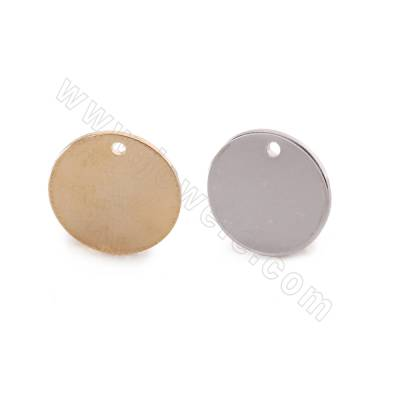 Brass Earring Charms, Coin,...