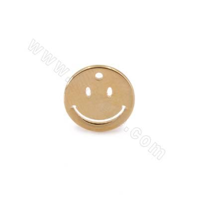Brass Earring Charms, Emoji...