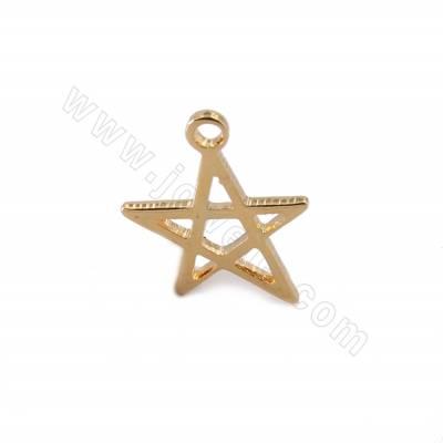 Brass Pendants, Star, Real...
