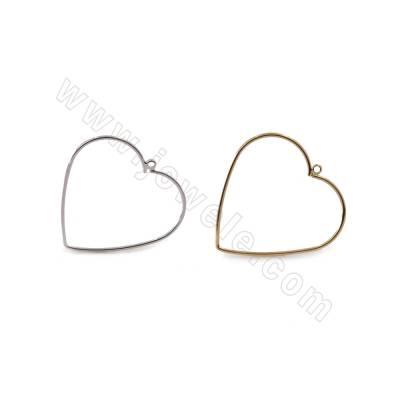 Brass Pendants, Heart, Size...