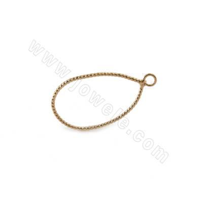 Brass Pendants, Teardrop,...