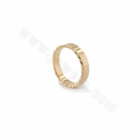 Brass Charms, Circle, Real Gold Plated, Diameter 13mm, Thick 2.6mm, 50pcs/pack