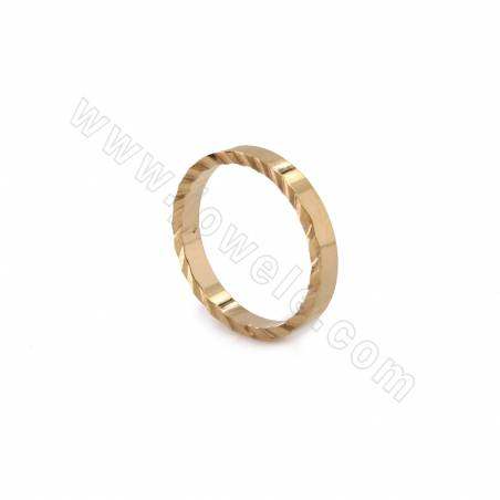 Brass Earring Charms, Circle, Real Gold Plated, Diameter 15mm, 30pcs/pack