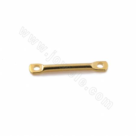 Brass Links/Connectors Earring Components, Real Gold Plated, Tube, Size 13x1.6mm, Hole 1mm, 350pcs/pack